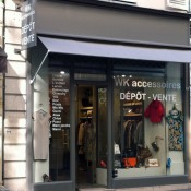 Store front at WK Dépôt-vente in Paris. Photo by alphacityguides.