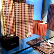Paul Smith accessory display at Harvey Nichols in London. Photo by alphacityguides.