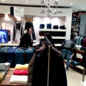 Diesel fashion display at Harvey Nichols in London. Photo by alphacityguides.
