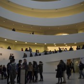 Inside the Guggenheim museum in New York. Photo by alphacityguides.