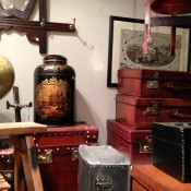 Steamer trunks at Henry Gregory in London. Photo by alphacityguides.