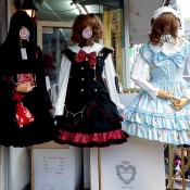 Lolita dress & Gothic Lolita dresses at Bodyline in Tokyo. Photo by alphacityguides.