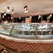 Ice Cream counter at Fortnum and Mason in London. Photo by alphacityguides.