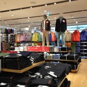 Fashion display inside Uniqlo in Tokyo. Photo by alphacityguides.