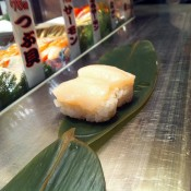 Sushi at Standing Sushi in Tokyo. Photo by alphacityguides.