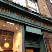 Store front at The Vintage Showroom in London. Photo by alphacityguides.