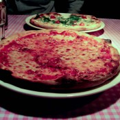 Cheese pie at Mama Pizzeria inside Mama Shelter Hotel in Paris. Photo by alphacityguides.
