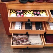 Sock accessories display inside Topman General Store in London. Photo by alphacityguides.