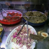 Salads at Smile To Go in New York. Photo by alphacityguides.