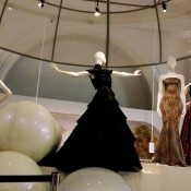 Ball gown exhibit at the V & A Museum in London. Photo by alphacityguides.