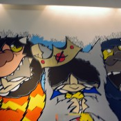 Wall mural inside Kicks Lab in Tokyo. Photo by alphacityguides.