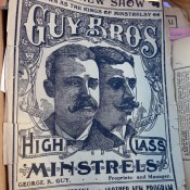 Vintage Guy Bros print at Hell's Kitchen Market in New York. Photo by alphacityguides.