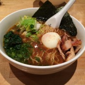 Ramen at Momofuku Noodle Bar in New York. Photo by alphacityguides.