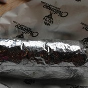Wrapped burrito at Chilango Burrito in London. Photo by alphacityguides.