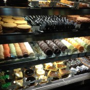 Macaroon display case at Bouchon Bakery in New York. Photo by alphacityguides.