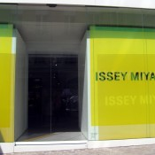 Store front at Issey Miyake in Paris. Photo by alphacityguides.