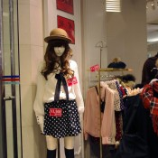 Women's display at Shibuya 109 in Tokyo, Japan