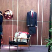 Men's fashion display at Peter Werth in London. Photo by alphacityguides.