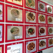 Wall menu at Xi'an Famous Foods in New York. Photo by alphacityguides.