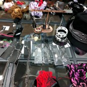 Japanese fashion accessories at gothic Shop H. Naoto in Tokyo. Photo by alphacityguides.