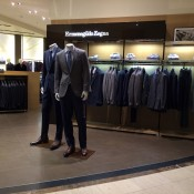 Ermenegildo Zegna suit display at Saks Fifth Avenue in New York. Photo by alphacityguides.