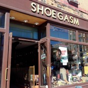 Store front at Shoegasm in New York. Photo by alphacityguides.