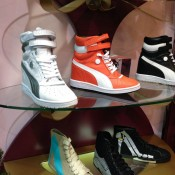 Sneaker display at Poste Mistress in Covent Garden, London. Photo by alphacityguides.