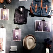 Fashion and accessories wall at Ben Sherman in London. Photo by alphacityguides.