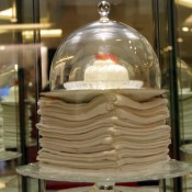 Dessert display at Isetan