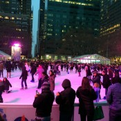 Skating rink at Bryant Park in New York. Photo by alphacityguides.