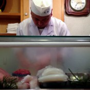Our sushi Chef at Daiwa Sushi in Tokyo. Photo by alphacityguides.