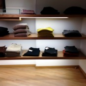 Sweater display at A.P.C in London. Photo by alphacityguides.