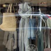 Fashion window display at La Maison Momoni in Paris. Photo by alphacityguides.