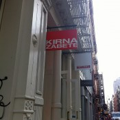 Store front at Kirna Zabete in New York. Photo by alphacityguides.