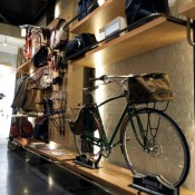 Bikes and bags at Shinola in New York. Photo by alphacityguides.