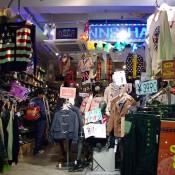Japanese menswear inside Spinns Harajuku in Tokyo.