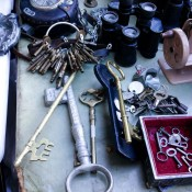 Vintage keys at Hell's Kitchen Market in New York. Photo by alphacityguides.