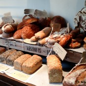 Homemade breads at Gail's in London. Photo by alphacityguides.