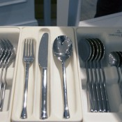 Cutlery at Villeroy & Boch in Paris. Photo by alphacityguides.