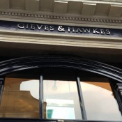 Store front at Gieves & Hawkes London. Photo by alphacityguides.