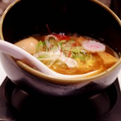 Keisuke Gaiden bowl on Tokyo Ramen Street at Tokyo Station. Photo by alphacityguides.