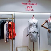 Vivienne Westwood Red Label fashion display at Harvey Nichols in London. Photo by alphacityguides.