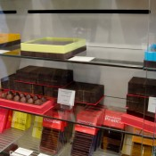 Pierre Hermé chocolate display in Paris. Photo by alphacityguides.