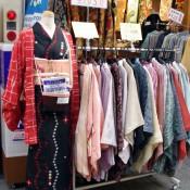 Vintage Kimono shop in Nakamise Market in Tokyo. Photo by alphacityguides.