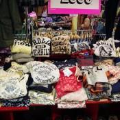 Vintage American inspired sweaters at Wego Harajuku in Tokyo.