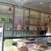 Pastry counter at Laduree in Paris. Photo by alphacityguides.