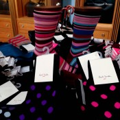 Printed Paul Smith socks at Fortnum and Mason in London. Photo by alphacityguides.