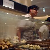 Dumplings in the food hall at Isetan.
