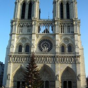 Western facade of the Notre Dame Cathedral in Paris. Photo by alphacityguides.