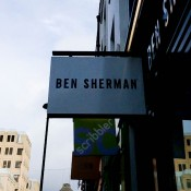 Store front at Ben Sherman in London. Photo by alphacityguides.